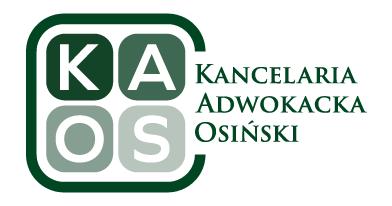 KAOS – Kancelaria Prawna Osiński sp.k.